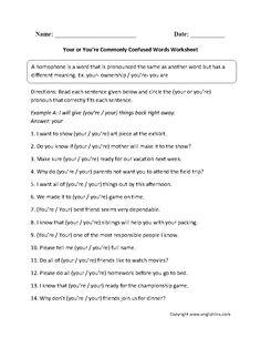 Homophones Worksheet 2 | Worksheets, Teaching vocabulary and ...