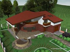 case-cu-etaj-00-002 Outdoor Furniture Sets, Outdoor Decor, Cabin Homes, House Plans, House Design, House Styles, Dena, Houses, Home Decor
