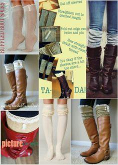 Boot sock ideas     www.facebook.com/bohemiancraftress