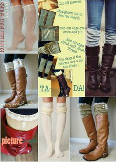 Boot sock ideas     www.facebook.com/bohemiancraftress