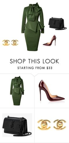 """""""Untitled #1"""" by niki-florou on Polyvore featuring Christian Louboutin, Yves Saint Laurent and Chanel"""