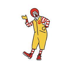 Donald McDonald #Donald #mcdonalds #seijimatsumoto #seiji.matsu #松本誠次 #art #illustration #illustrator