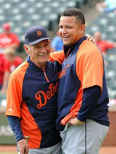 Detroit Tiger Manager, Jim Leyland and Miguel Cabrera!