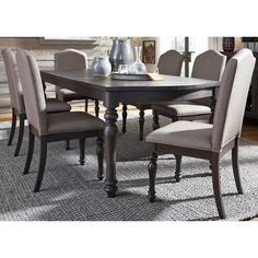 Shop For The Liberty Furniture Catawba Hills Dining 7 Piece Table Chair Set At Miller Brothers