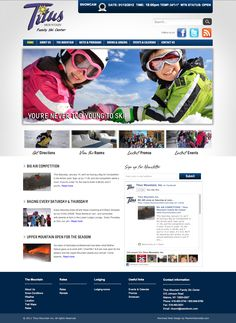 www.titusmountain.com website, designed and developed by PearlWhiteMedia.com