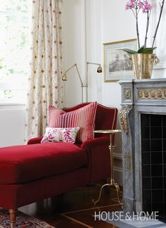 Rich Red Chaise | House & Home