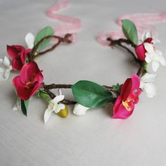 "Tropical Orchid & Stephanotis Flower Crown ""Naomi"""