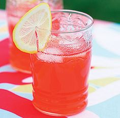 Pink Lemonade: Strawberries lend a bright pink color and a sweet berry contrast to the tart lemon flavor in this quintessential summer drink. Via Fine Cooking