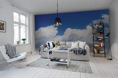 Hey, look at this wallpaper from Rebel Walls, Happy Cloud! #rebelwalls #wallpaper #wallmurals