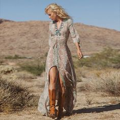 Vintage Bohemian Long Dress