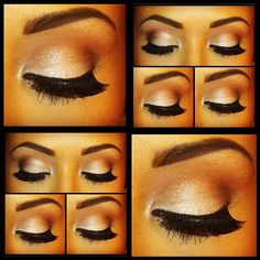 Nude eye makeup!