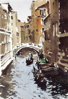 John Yardley   The Marble Bridge, Venice