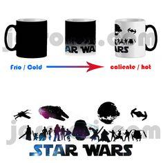 Taza mágica magica magic mug wars star personajes guerra de las galaxias muerte