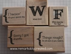 Ideas for Personalized Stamps from Stampin' Up!® - Stamp Your Art Out! www.stampyourartout.com