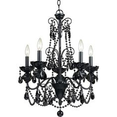 Af Lighting Elements Mischief Five Light Chandelier ($261) ❤ liked on Polyvore featuring home, lighting, ceiling lights, black, plug in hanging lamps, plug in chandelier, plug in ceiling lights, plug in chandelier lighting and plug-in wall lamp