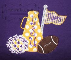 Fall Cheer with Football Embroidery Design by theappliquediva, $2.99