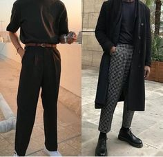 streetwear fashion Mens Fashion Outfit in Black. Trending Black Clothing Ideas for Men. Mode Outfits, Casual Outfits, Fashion Outfits, Fresh Outfits, Dress Casual, Mens Classy Outfits, Guy Outfits, Classy Suits, Classy Casual