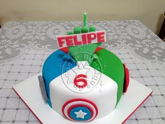 Bolo-Decorado-Vingadores/Avengers Cake