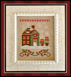 Poinsettia Place counted cross stitch pattern from Country Cottage Needleworks