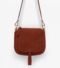 Zara Leather Tassel Messenger Bag