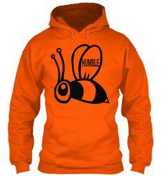 Humble Safety Orange Sweatshirt Front