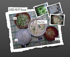 For Dinner on 17/Oct/2012