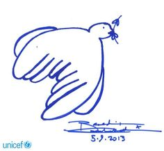 """""""Twitter / Doves_for_Peace: Big thanks to the great Benedict Cumberbatch for his beautiful dove in support of Doves for Peace in aid of UNICEF."""""""