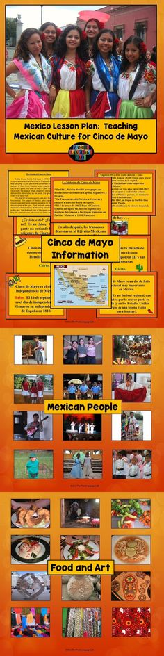 Teach your Spanish students why and where Cinco de Mayo is really celebrated and then break down Mexican stereotypes by showing them colorful photos of the people, places, and food from this amazing country.  World Language Cafe