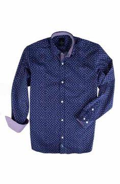 TailorByrd Roosevelt Print Dress Shirt (Big Boys)