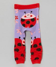 Another great find on #zulily! Purple & Red Ladybug Pants by Legwarmers Warehouse #zulilyfinds