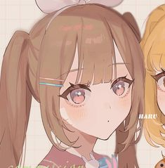 Cute Anime Girl Wallpaper, Cute Emoji Wallpaper, Friend Anime, Anime Best Friends, Bff Girls, Butterfly Wallpaper Iphone, Matching Profile Pictures, Art Reference Poses, Cute Anime Couples