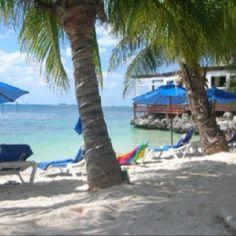 Private beach at Villa Rolandi in Isla Mujeres, Mexico