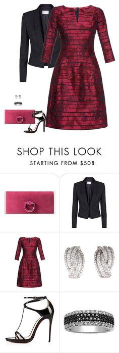 """Evening Elegance MDCXIII"" by gatbar ❤ liked on Polyvore featuring Gucci, BOSS Hugo Boss, Oscar de la Renta, Christian Louboutin, women's clothing, women, female, woman, misses and juniors"