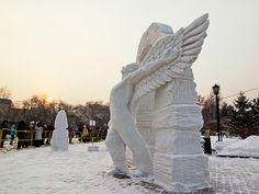 Snow sculpture / Novosibirsk / Siberia / 15.01.2012