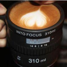 Camera Lens Mug Ceramic Cup