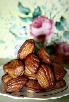 Madeleines with orange blossom water #recipes #french