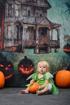 Don't be afraid to try out a spooky looking portrait backdrop for all of your trick-or-treaters this year! Here is the Haunted House Printed Backdrop from Backdrop Express. Photo Courtesy of Tanya Lee Hervey Photography Halloween Photography, Halloween Photos, Backdrops, Printed, Portrait, House, Painting, Studio, Easy