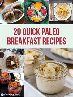 I love the selection of quick Paleo breakfast ideas. Many of them can be made ahead and grabbed quickly in the morning and I love how their is an image for each recipe. #TopPaleoTips