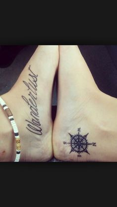 I still like my estrogen molecule idea for a tattoo but this is a great idea too! #wanderlust #compass
