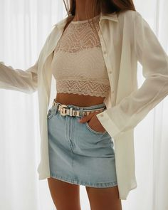 Fashion-Outfits & Style-Ideen für den Sommer-Look - Fashioon - Best Skirt Best Casual Outfits, Outfits For Teens, Cool Outfits, Fashion Outfits, Womens Fashion, Fashion Trends, Fasion, Fashion Shoes, Casual Chique