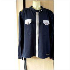 EGAN Jacket/Top sze XL Mens NAVY BLUE GREY, FOOTBALL FASHION FOR THE TERRACES!