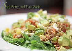 Spelt Berry and Tuna Salad via jemangelaville.com