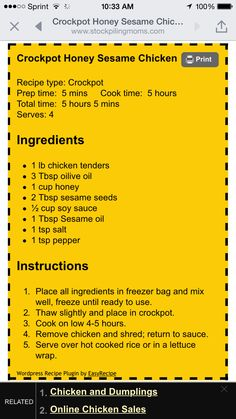 Use of chicken, add onions & garlic Crock Pot Food, Crockpot Dishes, Crock Pot Slow Cooker, Pressure Cooker Recipes, Slow Cooker Chicken, Crockpot Recipes, Cooking Recipes, Crock Pots, Slow Cooking