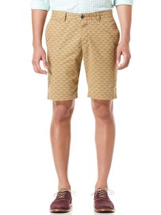 9f13ac6916e28 DIAMOND PRINT MARGATE FIT SHORT - Original Penguin Khaki Shorts, Workout  Shorts, Patterned Shorts