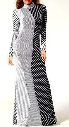 Shop Kami Shade' - Plus Size Designer Striped Color Block Grey Long Sleeve Maxi Dress, $89.00 (http://www.kamishade.com/haute-plus-size-dresses-more/plus-size-designer-striped-color-block-grey-long-sleeve-maxi-dress/)