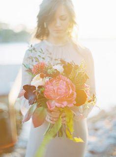 Pink peony love ~ we ❤ this! moncheribridals.com