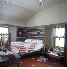 A Primitive Cabin Bedroom.