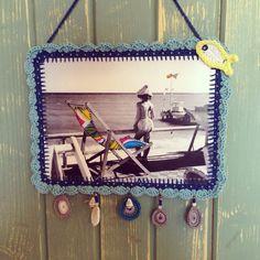 Vintage postcard crochet frame Hula, Frames, Crochet, Vintage, Home Decor, Decoration Home, Room Decor, Frame, Ganchillo