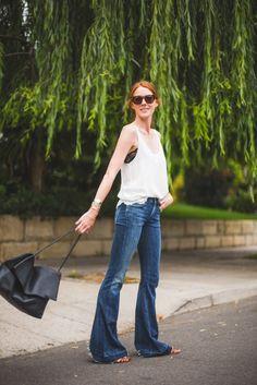20 Stylish Ways to Wear Basic Jeans via Brit + Co