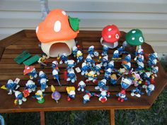 Huge Vintage Lot of 1980s Schleich Peyo Smurfs Plus Houses and Accessories